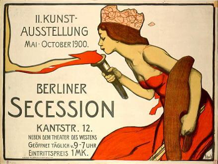 Plakat für Kunst-Ausstellung der Berliner Secession im Jahr 1900
